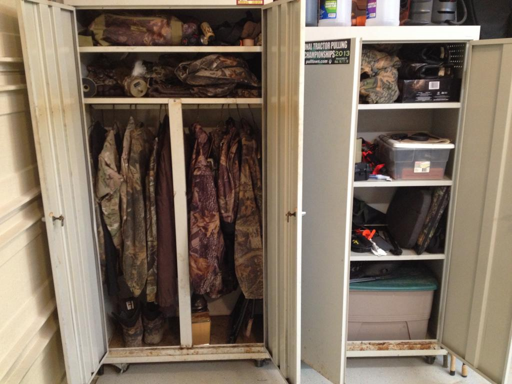 Hunting Clothes Storage Closet Designs