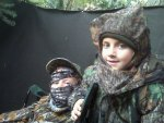 Anna and Brendan in powerline blind 9-29-12.jpg